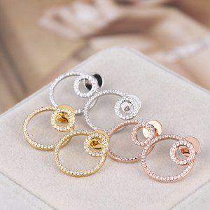 Henri Bendel Zircon Circle Earrings